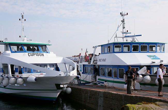 Bretagne Insel Île de Bréhat: Check-in am Festland.