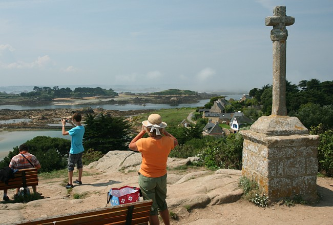 Bretagne Insel Île de Bréhat: Blick auf den Archipel.