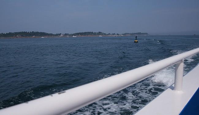 Bretagne Insel Île de Bréhat: Heimfahrt.