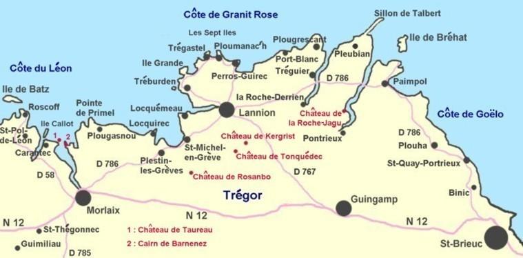 Nordfrankreich Karte.Bretagne Karte Landkarte